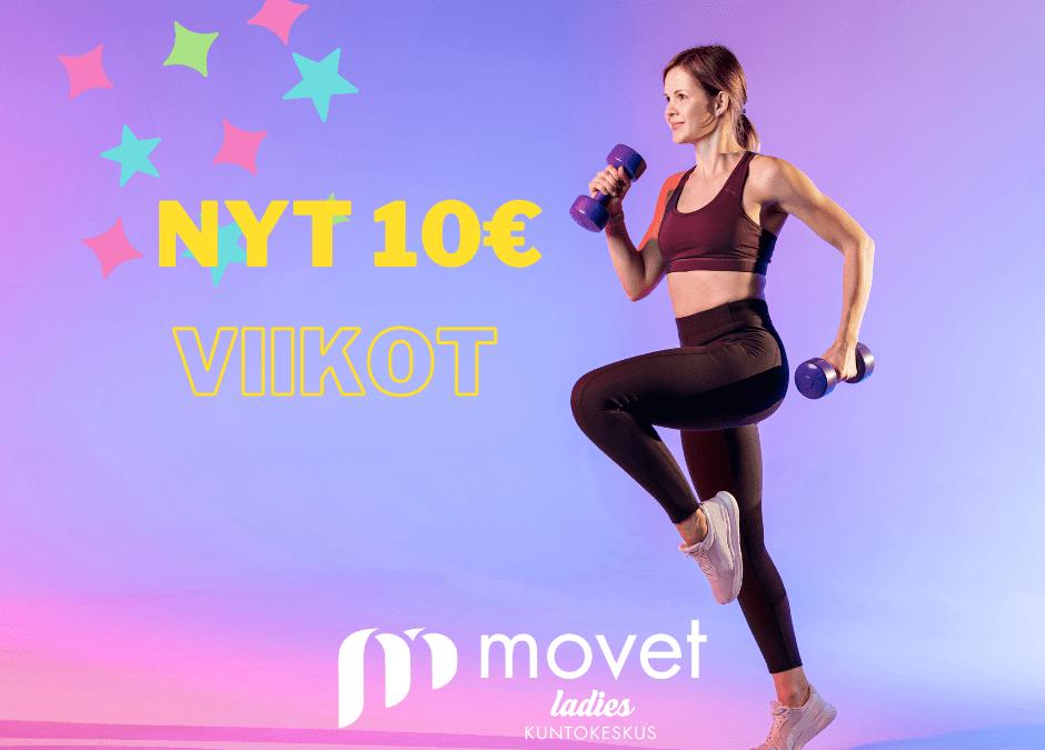 Tutustu 1 vko 10€ tai aloita asiakkuus ja liiku lokakuun loppuun asti 10€!